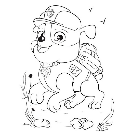 Paw Patrol The New Pup Coloring Pages : Paw patrol pups free colouring pages