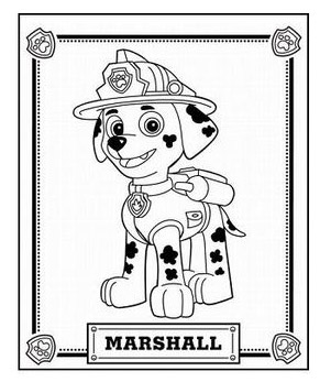 Marshall Da Colorare Paw Patrol