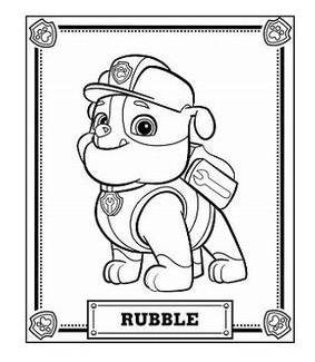 Rubble Da Colorare Paw Patrol